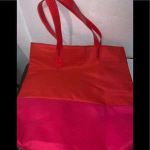 NWOT Lancome Paris Large Tote Bag Pink & Red